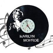 "Часы настенные Виниловая грампластинка ""MARILYN MONROE"" 30см. арт.WL-09 фото"