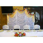 Свадебное оформление залов (Ширма за молодыми) фото