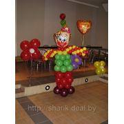 Клоун из воздушных шаров фото