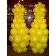 Кегли из воздушных шаров фото
