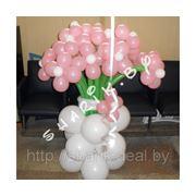 Цветочки из воздушных шаров фото