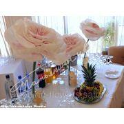 Украшение фуршетного стола цветами фото