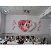 Сердца из воздушных шаров для свадьбы фото