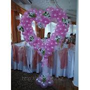 Сердца из шаров для свадьбы фото
