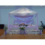 (Шатер)Оформление свадьбы, драпировка тканью, живые цветы НЕДОРОГО, в Алматы фото
