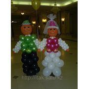 Жених и невеста из шаров фото