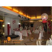 Оформление стола жениха и невесты фото