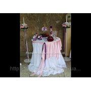 Свадебное оформление фуршетного стола, банкетного зала, оформление живыми цветами фото