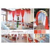 Комплексное оформление свадебного торжества. Выездая церемония. Фотобанер. фото