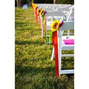 Украшение стульев лентами фото