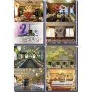 Свадебное оформление зала воздушные шары +цветы в Харькове и Харьковской области фото