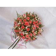 Розовый букет невесты фотография