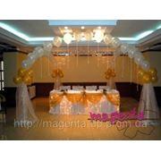 Оформление шарами свадебного зала Днепропетровск