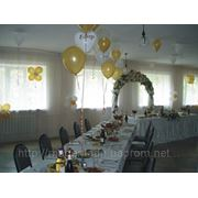 Оформление свадьбы воздушными шарами 1 фото