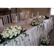 Оформление свадебного стола живыми цветами, Киев фото