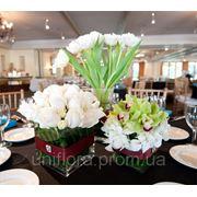 Оформление цветами свадьбы | Оформление президиума фото