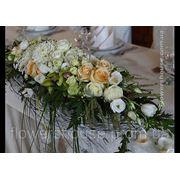"""Свадебное оформление зала цветами. Ресторан """"Боярин"""". фото"""