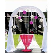 Свадебная арака в бело - розовом стиле