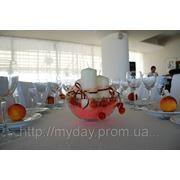 Композиция на стол гостей из вишен фото