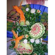 Фруктовые букеты, фруктовые пальмы, карвинг, украшение стола Донецк фото