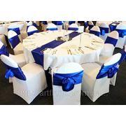 Универсальные чехлы на стулья из стрейч ткани, стрейчевые чехлы на стулья, стильные матовые чехлы на стулья для свадьбы, корпоратива или юбилея фото