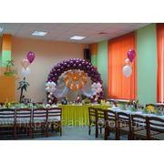 Украшение зала на свадьбу. фото