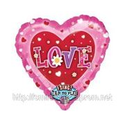 Поющий шар «Love», надутый гелием. фото