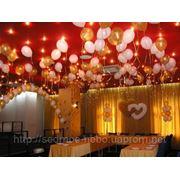 Свадебное оформление воздушными шарами фото