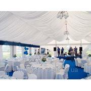 Оформление тканями шатров, декорирование потолка, стен, драпировка любой сложности фото