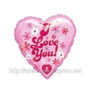 Шар поющий «I LOVE YOU», надутый гелием. фото