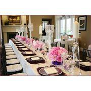 Оформление цветами, украшение зала тканями, оформление шарами и декорациями фото