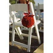 Чехлы на стулья, скатерти, юбки на столы, банты. арки, оформление тканью фото