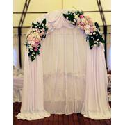 Свадебная арка Киев из живых цветов фото