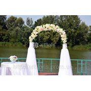 Комплект декора для выездной церемонии, свадебная арка, столик, композиция, дорожка фото