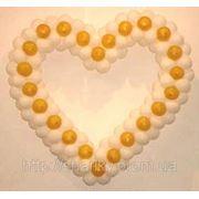 Сердце из шаров. фото