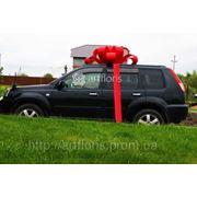 Купить красный бант на машину, большой подарочный бант фото
