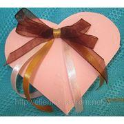 Сердце роз. с бантиком фото
