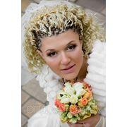 Свадебная прическа оригинальная недорого Киев фото