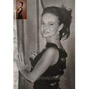 Портрет по фотографии в интерьере, заказ портретов, заказать портрет девушки по фото фото