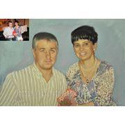Семейный портрет с фотографии,техника портрета, профессиональный портрет,правильный портрет фото