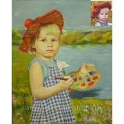 Детский портрет на заказ, портрет по фото, заказать портрет, купить портрет, продажа портретов фото