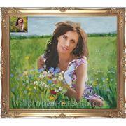 Заказ портрета в пейзаже, заказ портрета в живописи, заказ портрета с фото фото
