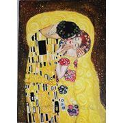 Копия картины Густава Климта «Поцелуй» (50х70) фото