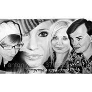 Портреты по фото карандашом. фото
