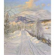 Название картины Зимняя дорога, Картины маслом, Заказ картин маслом, Купить картину маслом фото