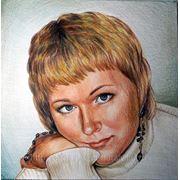 Портрет пастель-карандаш бумага фото