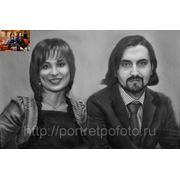 Парный портрет по фотографии, заказ портрета по фото, групповой портрет фото