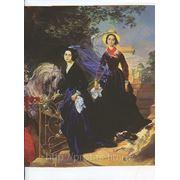 Карл Брюлов портрет сестер Шишкаревых холст масло, художники19века, художники 18века фото