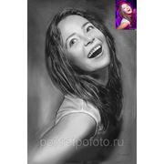 Портрет девушки Вики с фотографии фото