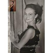 Сухая кисть с фотографии, портрет с фото на заказ маслом фото
